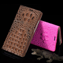 High Quality Cover For ZTE Nubia Z11 Mini S 5.2″ Genuine Leather Luxury 3D Crocodile Dorsal Grain Flip Case Phone Bag +Free Gift
