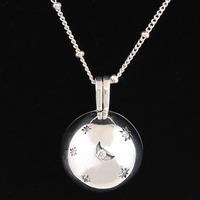 New 925 Sterling Silver Necklace Moon And Stars With Sliding Ball Chain Adjust Necklace For Women Wedding Gift Pandora Jewelry