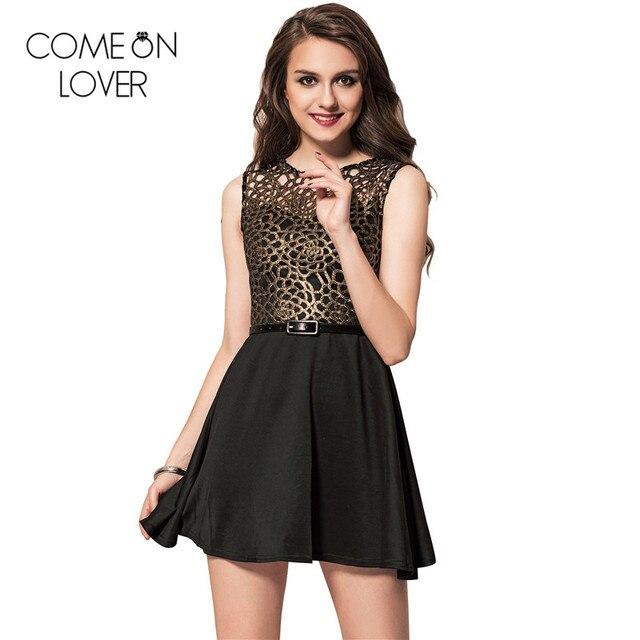 0844391366 Comeonlover Elegant summer style black embroidery dress plus size 2XL  skater dress off shoulder mini short