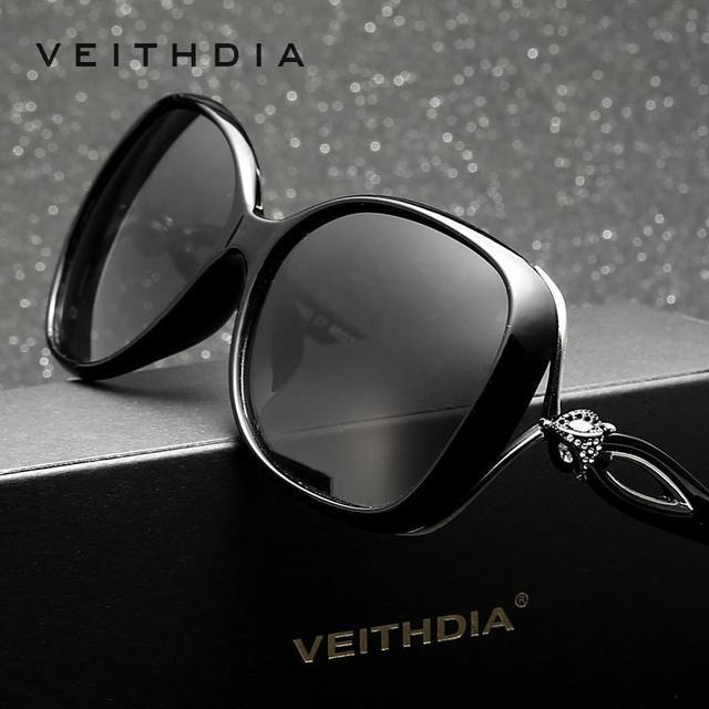 Ретро винтажные большие солнцезащитные очки TR90. Поляризованные женские солнцезащитные очки со стразами. Дизайнерские солнцезащитные очки, аксессуары для женщин, 7022
