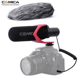 Comica V30 PRO Video Microphone Directional Condenser Interview Recording Mic for Canon Nikon Sony DSLR Camera (with Windmuff)