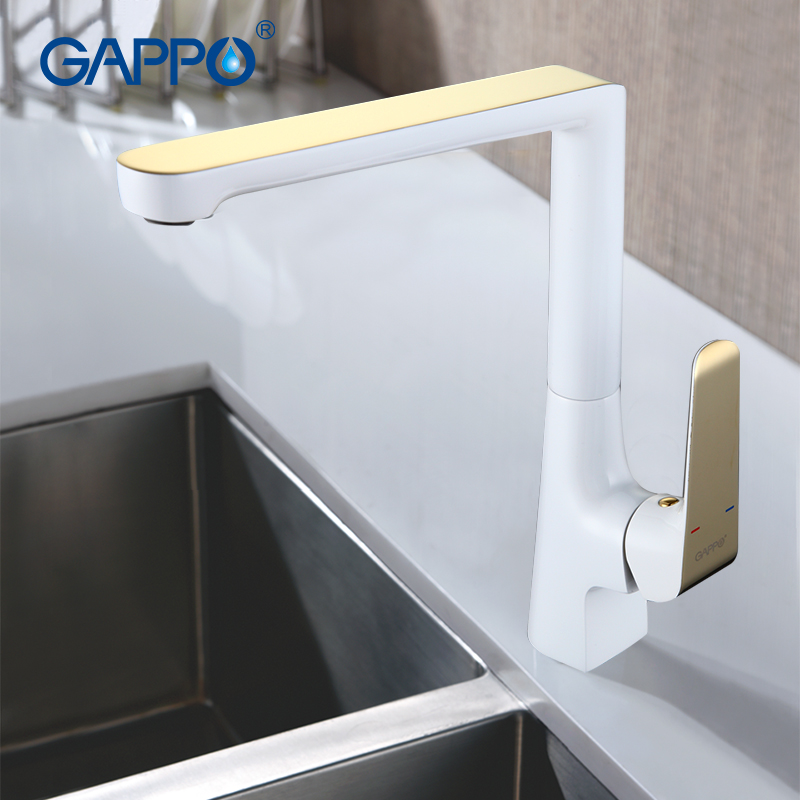 GAPPO 1set High quality Deck Mounted Solid Brass Basin sink Faucet mixer tap Single Handle Waterfall