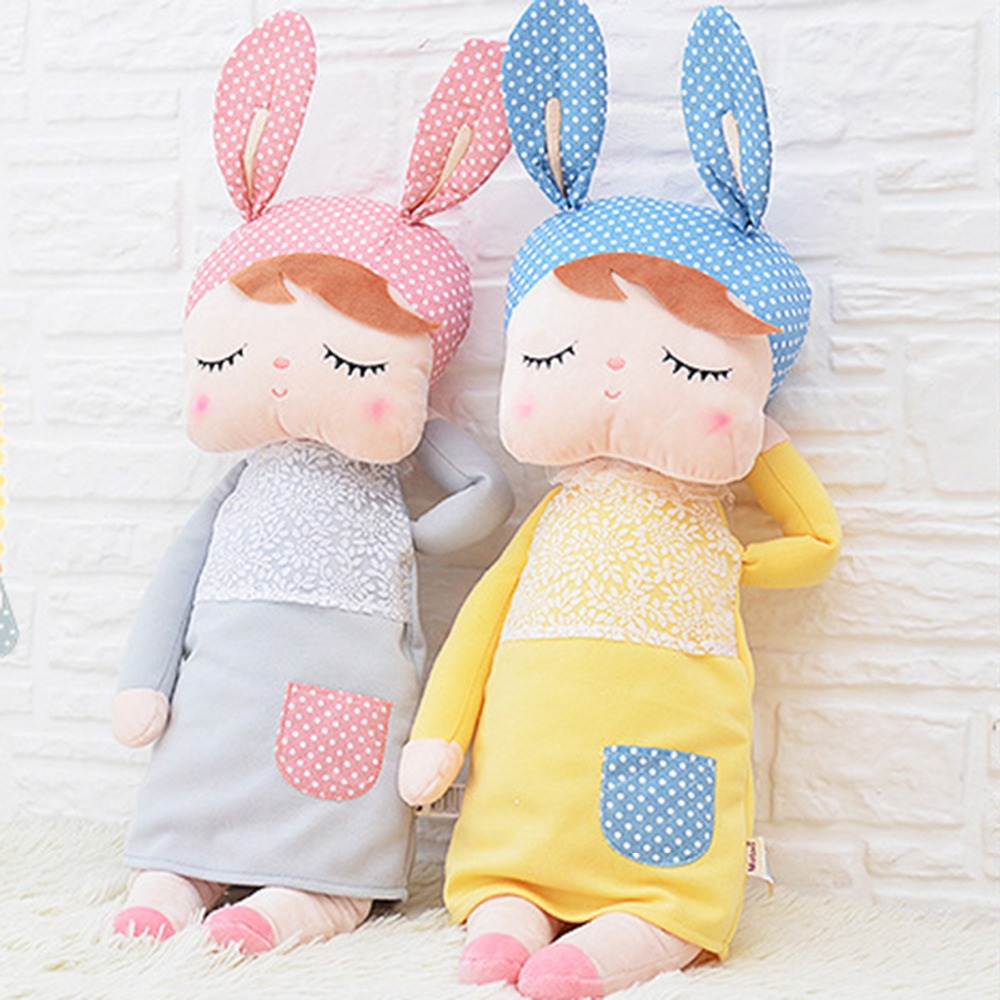 Cute Rabbit Dolls 35cm Baby Plush Toy Doll Sweet Stuffed Toys Dolls for Kids Girls Sleeping Doll Birthday/Christmas Gift mini kawaii plush stuffed animal cartoon kids toys for girls children baby birthday christmas gift angela rabbit metoo doll