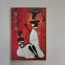 Hand Painted Abstract African Women Oil Paintings On Canvas Wall Art Painting