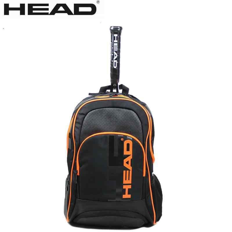 Genuine Head Team Multifuntional black Sports Bag Tennis Badminton  Bag Tennis Backpack For 1-2 Pcs