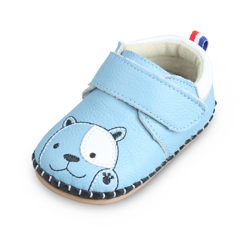 XQT.GZ Infant Baby Boy Genuine Leather Shoes Toddler Girl Shoes Animal Prints Anti Slip Shoes Soft Bottom Cow Muscle Baby Shoes slip-on shoe
