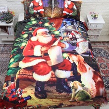 3d Christmas duvet set on sale