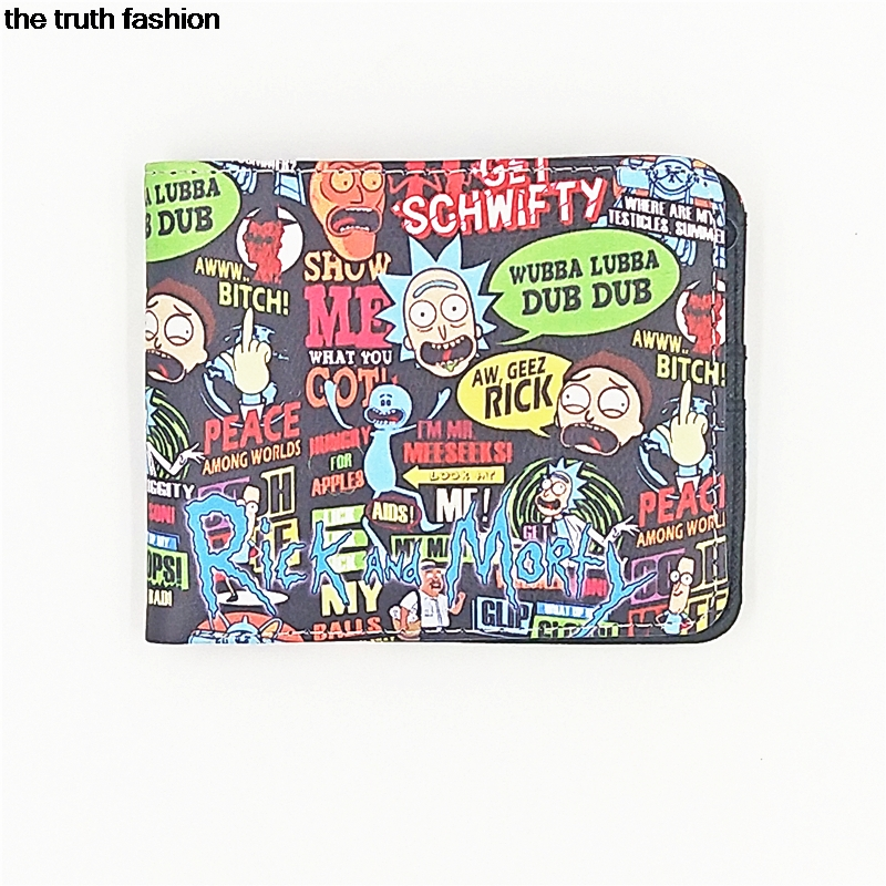 wholesale cartoon wallets movie Rick and Morty wallet card holder with cion zipper pocket chi's sweet home children purse the harry potter short wallets jack skellington man purse move wallet doctor who rick and morty cartoon kids cion purse