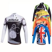 MILOTO Cycling Clothing Mens Cycling Jerseys Maillot Ciclismo Bike MTB Road Ropa Ciclismo Long Sleeve Clothing