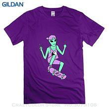 Impresión de 100% algodón T Camisas marca ropa Tops Camisetas Tees  onlyprint hombres Alien Peace 02b8a257e48