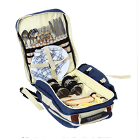 Outdoor Backpack With Tableware Handle Bag For Camping Hiking Picnic Bag 4 Person With Tableware