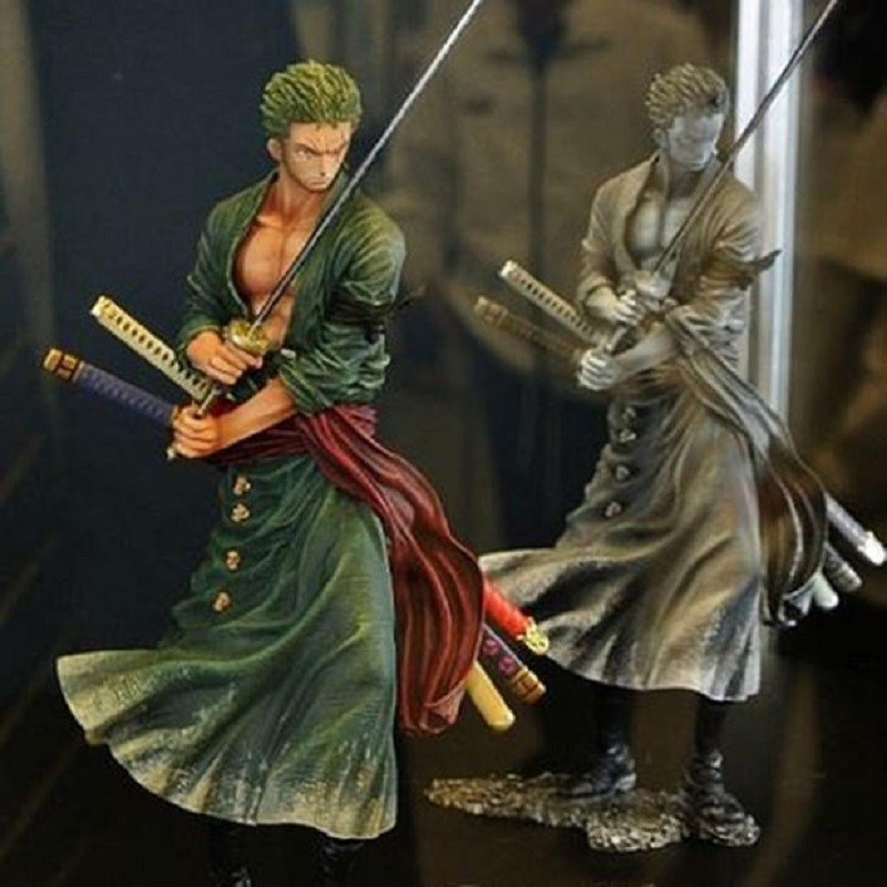 One Piece Roronoa Zoro Action Figure Toy Anime Cartoon One Piece Roronoa Zoro 2 Color Version Juguetes Creative Birthday Gift brand new portrait of pirates one piece roronoa zoro 23cm pvc cool cartoon action figure model toy for gift kids free shipping
