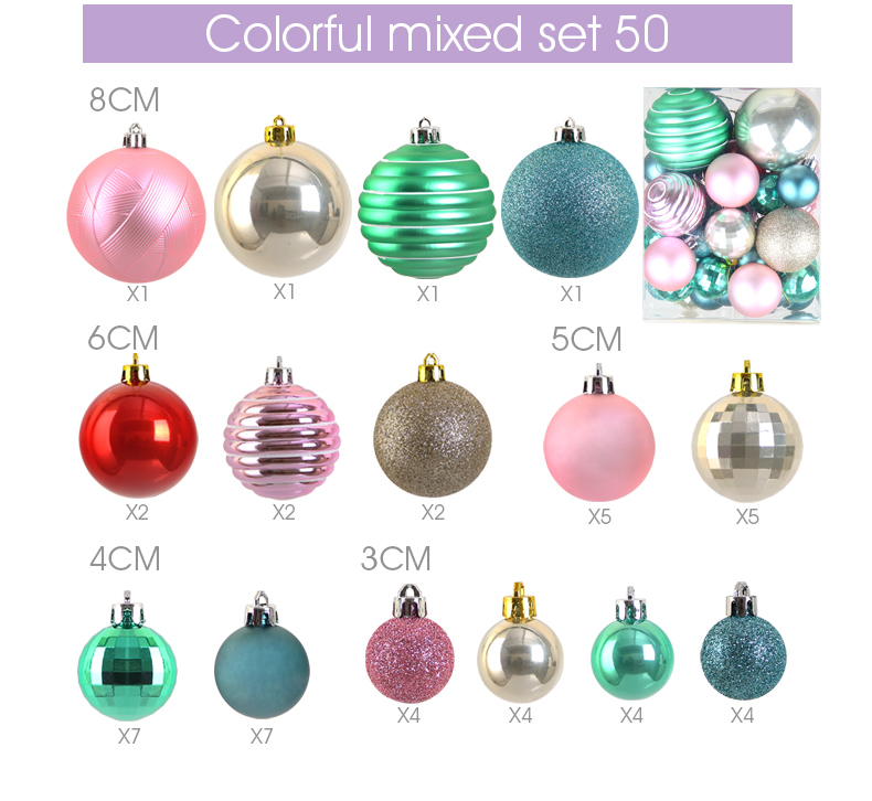 14 inhoo Plastic Christmas Balls For Home Christmas Tree Decorations White Baubles Xmas Ornaments Pendant Balls 2019 New Year Gifts