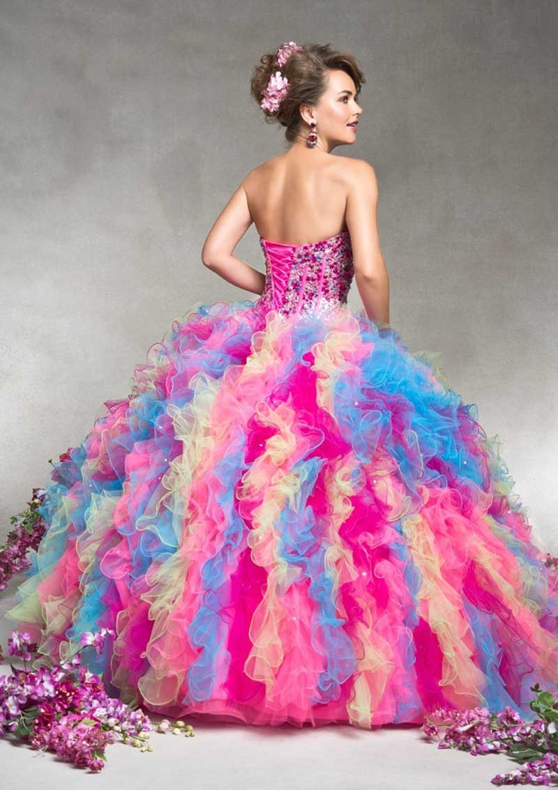 2015-Stunning-Amazing-Colorful-Rainbow-Ball-Gown-Quinceanera-Dresses-with-Jacket-Vestidos-de-15-anos-Girl