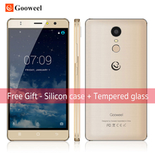 Original gooweel m17 4g handy fingerabdruck id mtk6737 quad-core 64-bit 5,5 zoll IPS Android 6.0 smartphone 16 GB 8MP GPS zelle