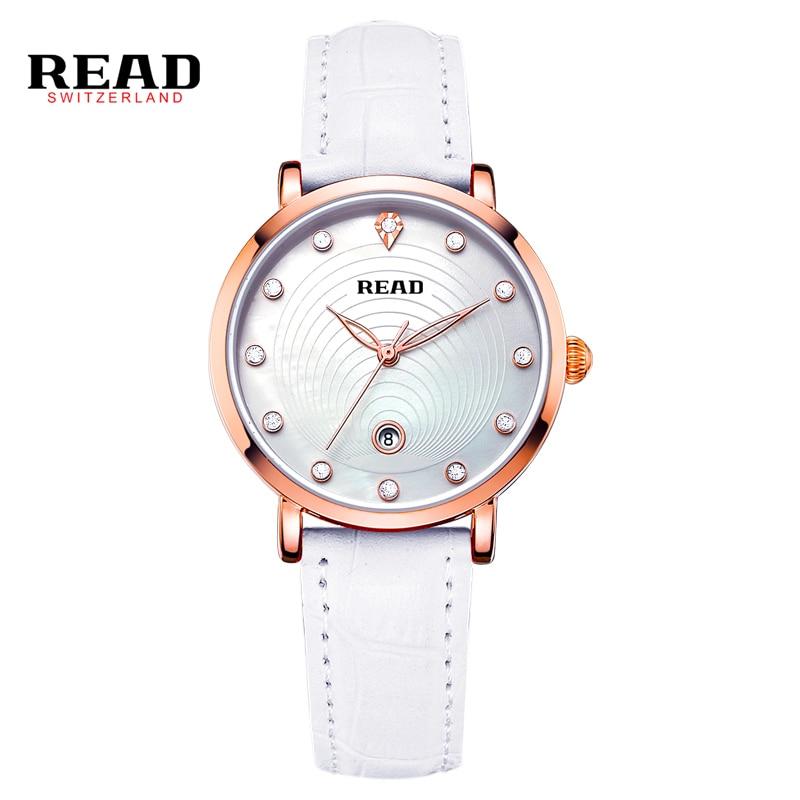 READ New fashion ladies leather women watch white quartz watches R2012