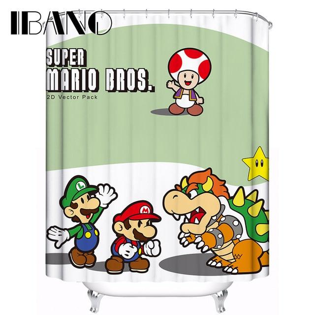 Super Mario Muster Kunden Bad Vorhang Wasserdicht Polyester X Cm Fr Bad.
