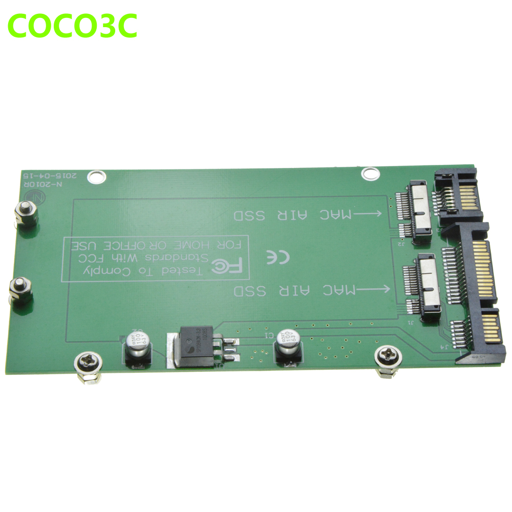 For Macbook 2010 2011 Air A1369 A1370 SSD 2 slots to Dual SATA 3 0 Adapter