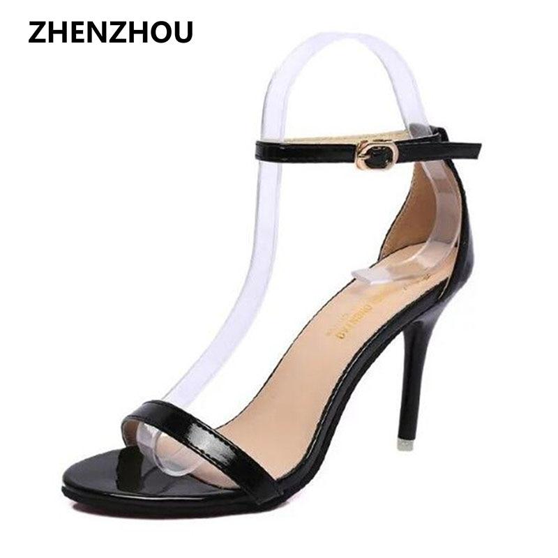 Free shipping summer 2017 peep toe heel sandals heels waterproof cross strap hollow out sexy sandals