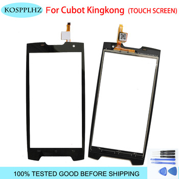KOSPPLHZ 黒 5 インチフロント外側ガラス cubot kingkong タッチスクリーンタッチパネルレンズ交換キングコング + ツール -