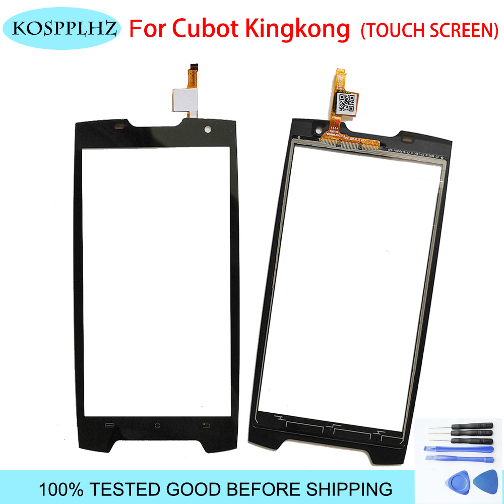 KOSPPLHZ Black 5 inch front outer glass For cubot kingkong Touch Screen Touch Panel Lens Replacement king kong + Tools Mobile Phone Touch Panel     - title=
