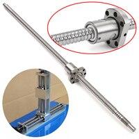 1pc SFU1204 Rolled Ball Screw C7 L500mm 1pc Single Ballscrew Nut Mayitr For BK BF10 Standard