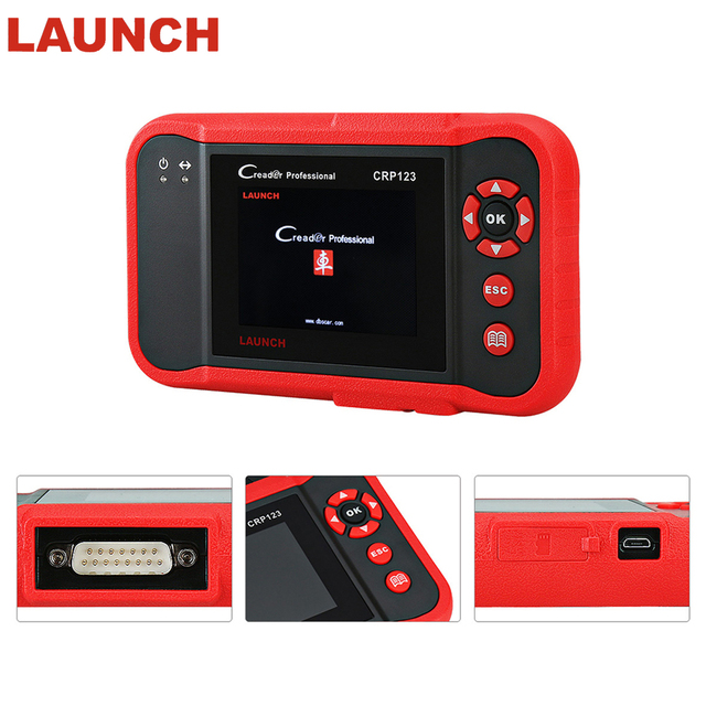 Flash Promo Launch X431 Code Creader CRP123 Creader VIII OBD2 Auto diagnostic tool for ENG/AT/ABS/SRS + EPB/Oil/SAS reset X431 Scanner