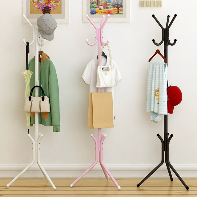Genial Storage Rack Coat Rack Spray Paint Iron Pipe Simple Assembly Can Be Removed  Bedroom Furniture Hanging