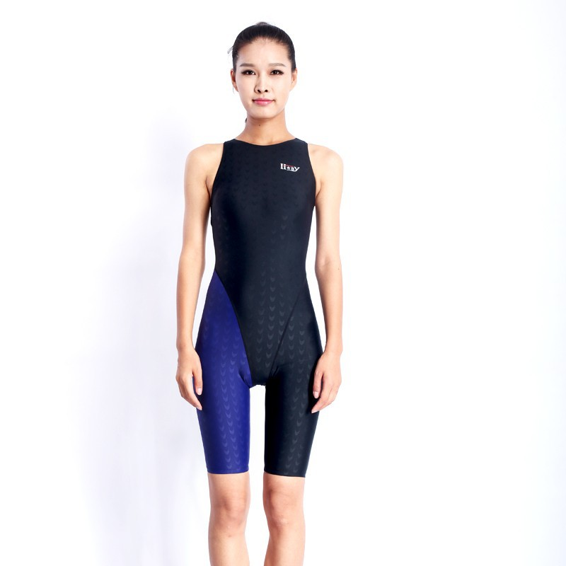 HXBY swimwear girls racing swimsuits sharkskin professional swimsuits knee one piece competition swim suits one piece 13