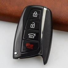 OkeyTech 4 кнопки автомобильный брелок для автомобильного ключа для Hyundai Genesis 2013-2015 Santa Fe Equus Azera сменный Футляр для ключей удаленный корпус