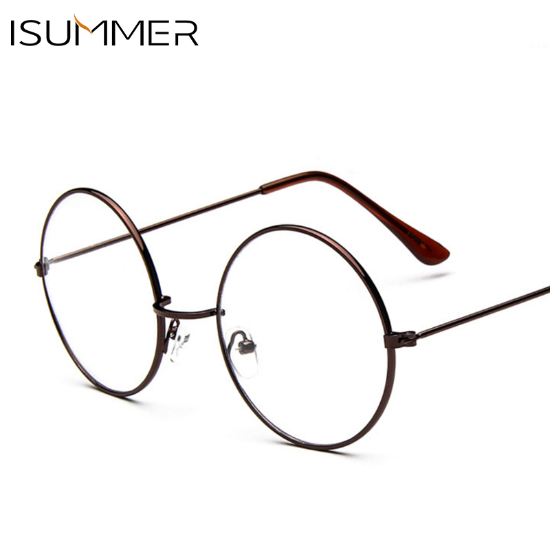 Vintage transparente Mujer metal gafas marco óptico completo lente ...