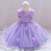 bc590287da27 Newborn Purple Dress 3 18 Months Party Baby Dress Cotton Sleeveless Princess  Dress Baby Girl Clothes. Neonato Vestito Viola 3 18 Mesi Da Partito Del  Bambino ...