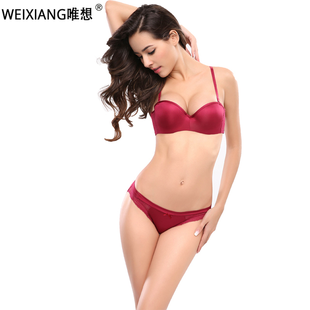 429c50bf15c Half Cup Women Sexy Bra Set Plus Size D Underwear Thin Cotton Red Lace Bras  And Panties Set White Brassiere Embroidery Lingerie