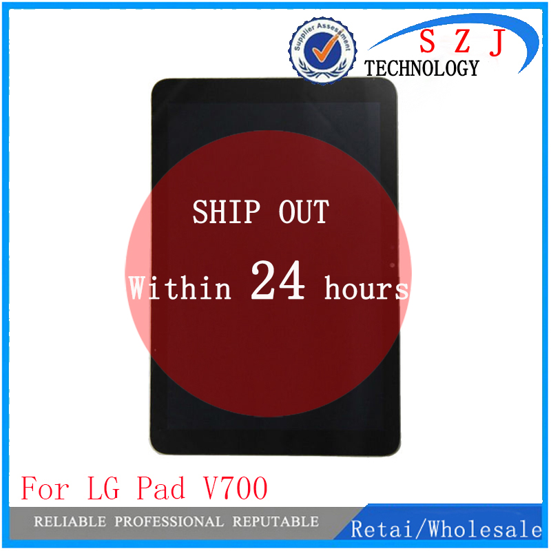 New 10.1'' inch For LG G Pad 10.1 V700 VK700 LCD Display+Digitizer Touch Screen Glass Assembly Repairment Parts Free shipp original new lcd display touch screen digitizer assembly for lg g pad 8 3 v500 wifi replacement