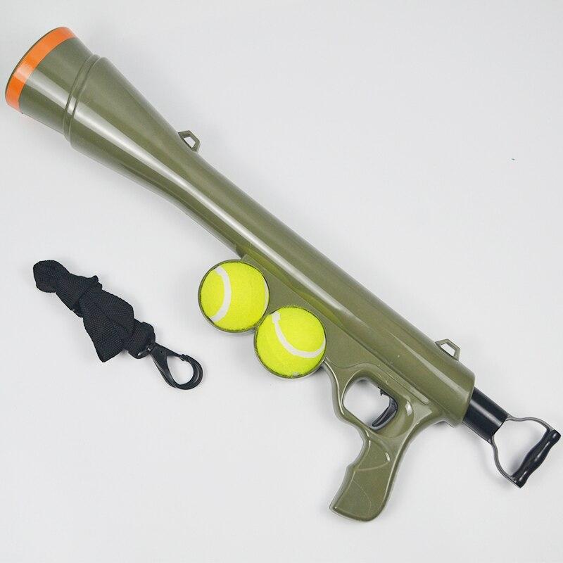 Balle chien jouet drôle Pet chien pistolet jouet formation museau catapulte outil d'incitation jouets de plein air Pet traiter lanceur PT075