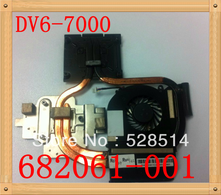 Original cooling CPU heatsink with fan for HP DV6-7000 DV7-7000 series laptop/notebook AMD CPU radiator 682061-001 the new thinkpad laptop radiator cooling fan cpu integration t530 fru 04w6905 cooler radiator heatsink