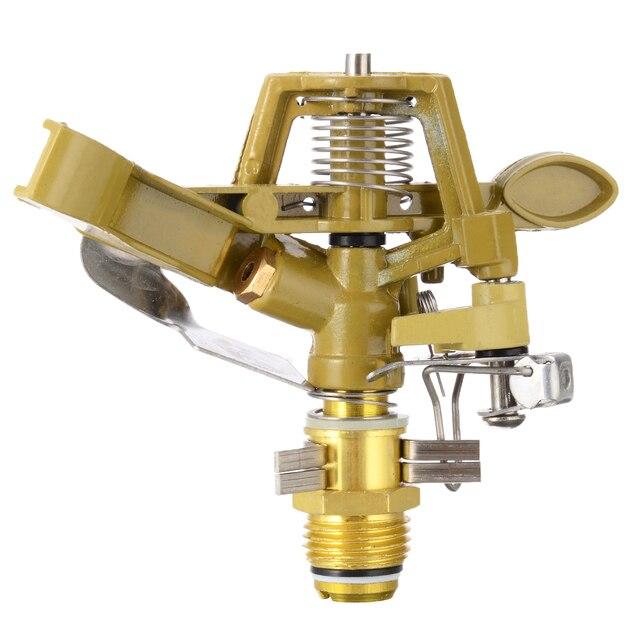 Metal Garden Sprinkler Spike Lawn 360 Degree Adjustable Rotating Water Nozzle Impulse Sprinkler for Irrigation System