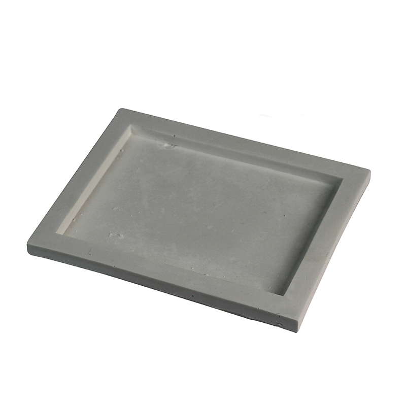 Silicone Concrete Tray Mold Handmade Square Cement Plate Tray Mould
