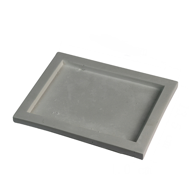 Silicone Tray Mold Handmade Square Cement Plate Mould