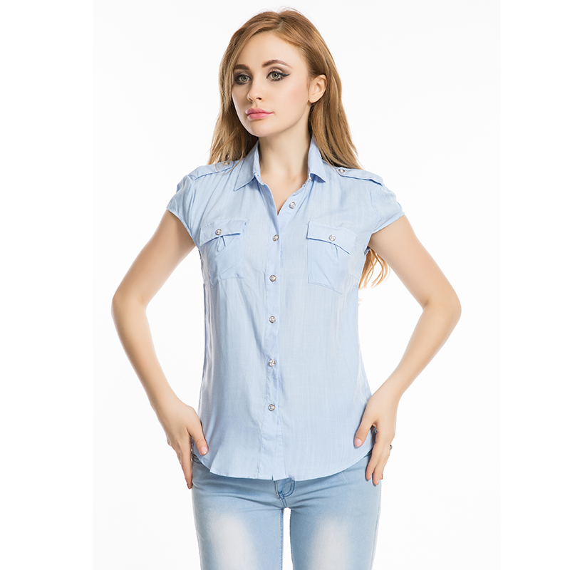 Brand Summer Women Tops And Blouses 2016 New Short Sleeve
