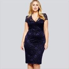 8664440fcf49 CEODOGG 2018 новые модные летние большие размеры Hollowed с короткими  рукавами v-образным вырезом кружевное платье пять видов вы.