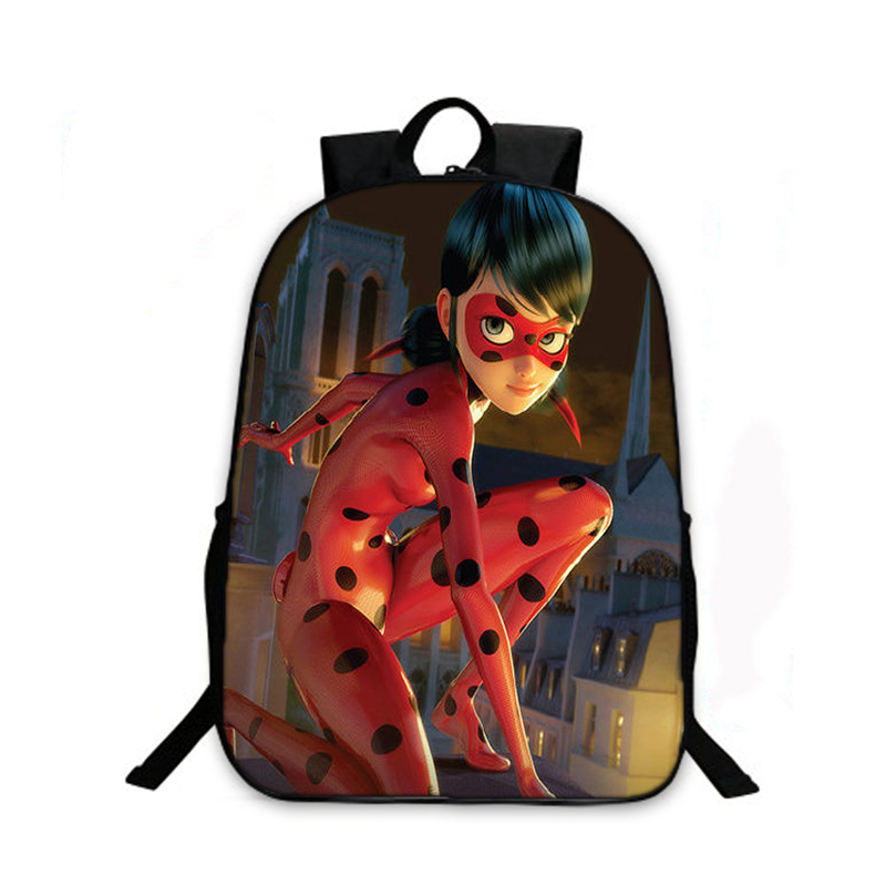 2017 Cute Ladybug School Bags Anime Miraculous Ladybug Women Backpack  Teenager Laptop Backpacks Printing Shoulder Bag Kids Gift b6300edd3de8f