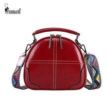 FUNMARDI 레트로 오일 왁스 가죽 Crossbody 가방 여성 핸드백 컬러 어깨 스트랩 숄더 가방 패션 작은 쉘 가방 WLHB1958