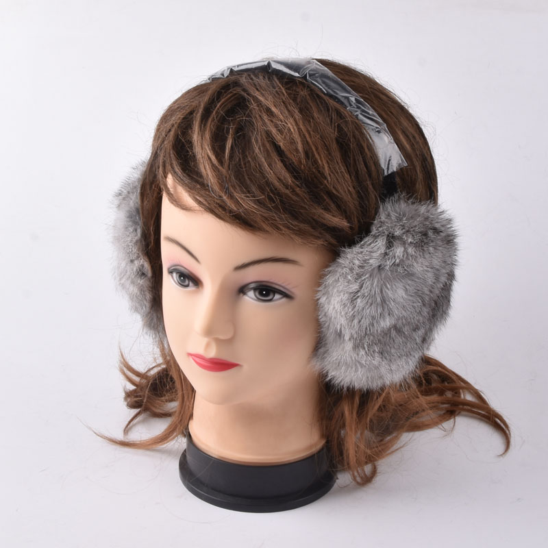 Rabbit Fur Earmuff Natural Fur Earlaps Unisex Earmuffs Fashion Winter Warm Soft Earmuffs