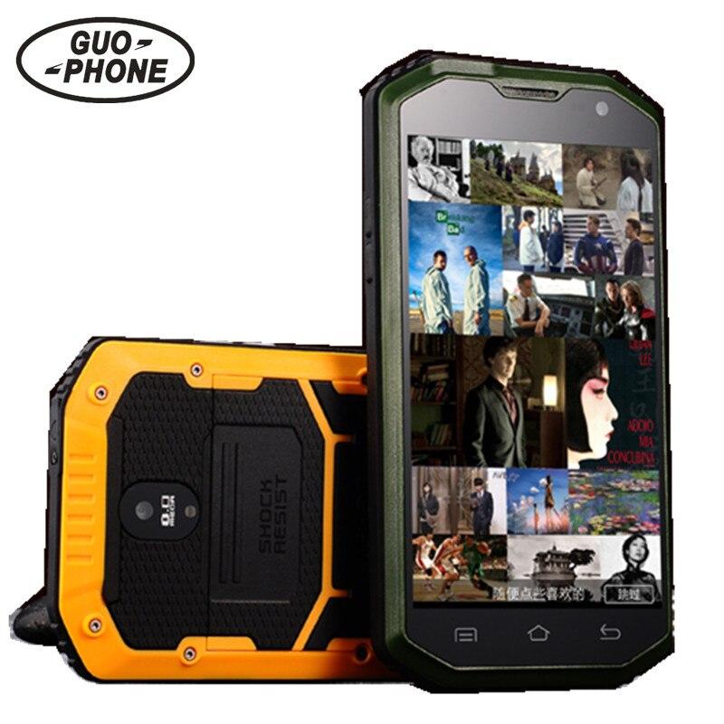 Цена за Guophone H8 Телефон С IP68 MTK6572 Android 4.2 3 Г GPS 5.0 Дюймов Экран Противоударный Водонепроницаемый Смартфон