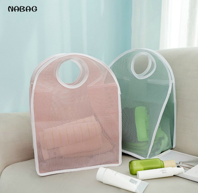NABAG New Foldable Net Mesh Storage Bag Nylon Clothes Laundry Bag Hamper  Home Organizer Bathroom Makeup Household Storage Case In Storage Bags From  Home ...