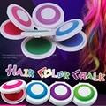 1 Conjunto de 4 cores Da Tintura de cabelo em pó cakeTemporary Cabelo Pó de Giz Dye Macias Pastels Salon Festa de Natal DIY ZZ006