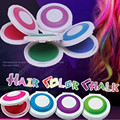 1 Set 4 colors Dye hair powdery cakeTemporary Hair Chalk Powder Dye Soft Pastels Salon Party Christmas DIY ZZ006