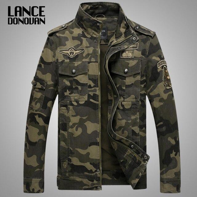 חדש 2019 צבא צבאי מעיל גברים טקטי הסוואה מזדמן אופנה מעילי טייסי בתוספת גודל M XXXL 4XL