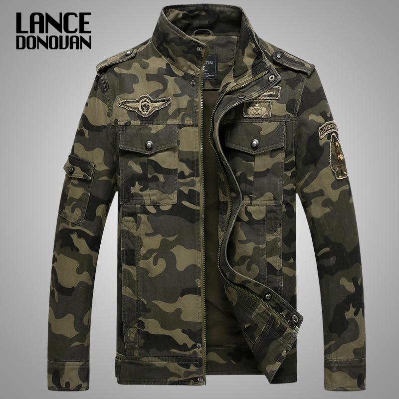 Nouveau 2019 armée militaire veste hommes tactique Camouflage décontracté mode Bomber vestes grande taille M-XXXL 4XL
